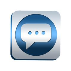 Bouton chromé : bulle de conversation