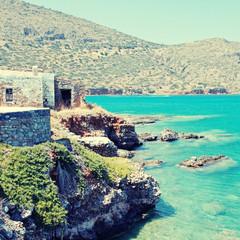 Mediterranean sea coast (Crete, Greece).