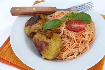 boulettes de veau et spaghettis
