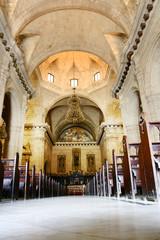 interior of catholic cathedral