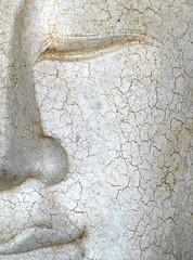 Cracked Buddha Face