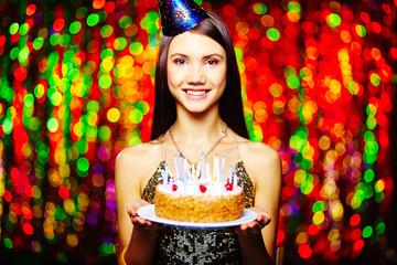 Girl having birthday