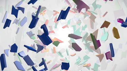 Abstract background with shattered pieces
