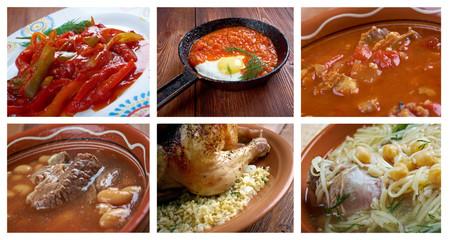 Food set African cuisine