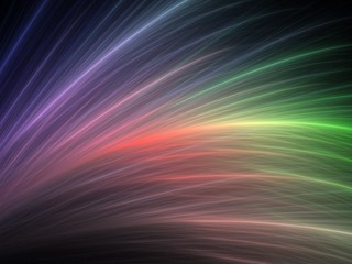 Abstract rainbow design made of fractal textures on the black