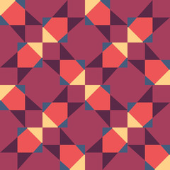 Seamless geometric red yellow color  pattern background