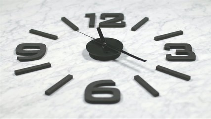 Clock Fast Time Lapse Moving Forward