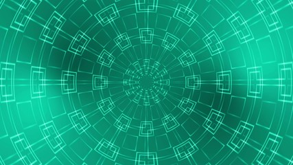 abstract loop motion background, kaleidoscope green light