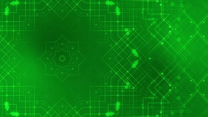 abstract loop motion background, kaleidoscope green line