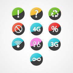 symbols set web icon