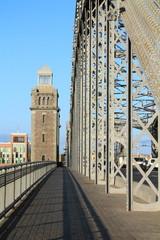 мостовая Большеохтинского моста в Санкт-Петербурге