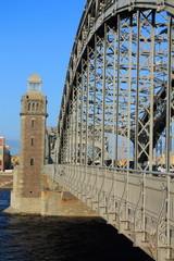 Стальная конструкция моста в Санкт-Петербурге