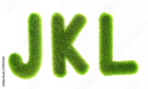 grass letter isolated on white background - 70943384