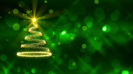 christmas tree, abstract loop motion background