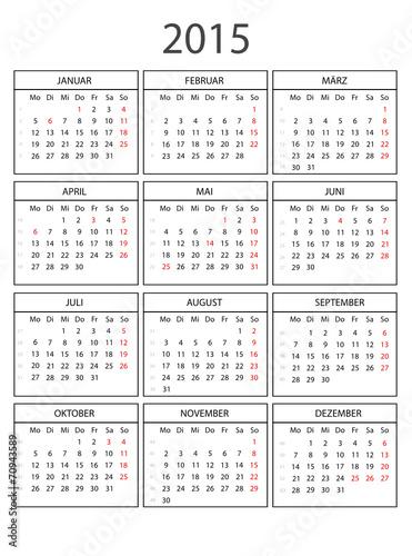 kalender 2015 mit rahmen ohne feiertage von fotokik. Black Bedroom Furniture Sets. Home Design Ideas