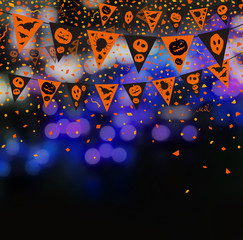 Halloween flag background