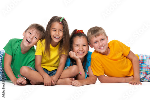 Four laughing children - 70943999