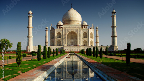 Foto op Canvas Monument Taj Mahal