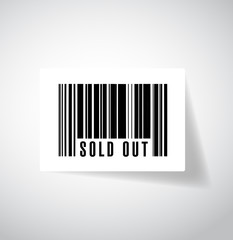 sold out bar code illustration design