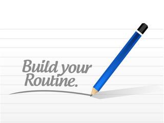 build your routine illustration design