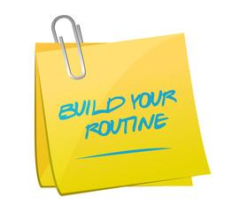 build your routine memo post illustration design