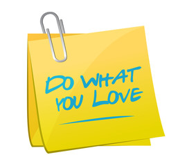 do what you love post illustration design