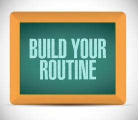 build your routine message illustration design