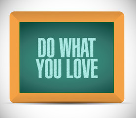 do what you love message illustration design