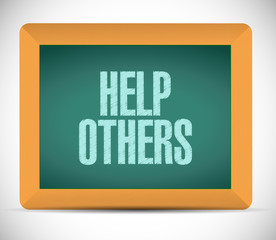 help others sign illustration design