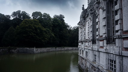 Chateau de Beaumesnil. A historic castle in Normandy, France