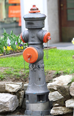 road hydrant for attack on the fire truck fire in case of fire a