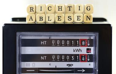 Ablesen der Energiekosten Stromkosten
