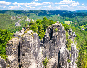 Saxon Switzerland natural reserve near Dresden, Germany.