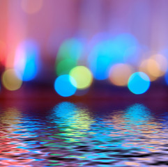 Colorful bokeh defocused lights wallpaper