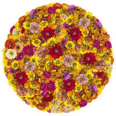 Big ball from summer flowers