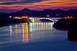 Sibenik bay bridge dusk view