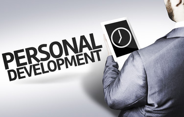 Business man with the text Personal Development