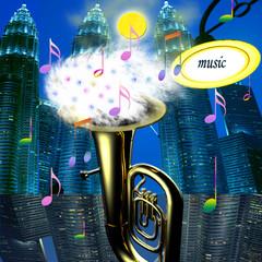 strumento, musica,città