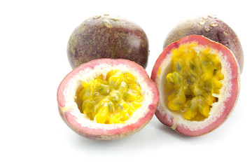 Fresh Passion fruit isolated on white background