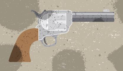 Revolver vector retro background. Vector illustration. Pattern