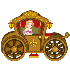 Princess in carriage