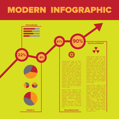 Modern infographic template with place for custom content