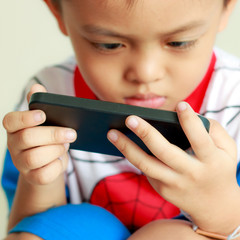 Boy on smartphone