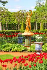 Lower Gardens of the Petergof Palace in Saint Petersburg
