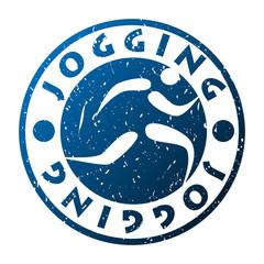 pieczątka jogging wektor