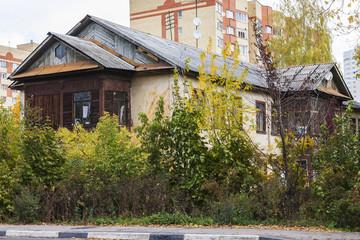 Pushkino, Russia, on September 30, 2014. Autumn city landscape.