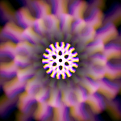 Mystic shiny wheel with color aberrations