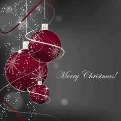 Christmas background with decoration and christmas ball