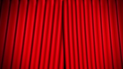 red theatre velvet curtains opening and closing