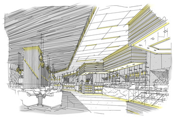 sketch design hotel,interior design,hotel,Restaurants